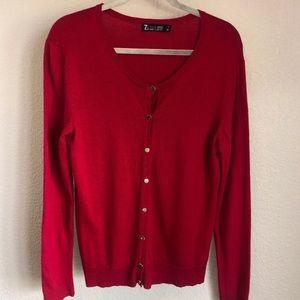 NY&Co Red Cardigan XL